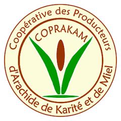 Logo de la COPRAKAM : COopérative des PRoducteurs d'Arachide, de KArité & de Miel