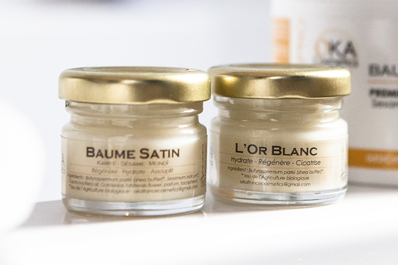30 ml de Baume Satin et 30 ml d'Or Blanc